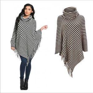 Sweaters - 🏷 Shawl Poncho With Fringe